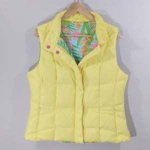 Lilly Pulitzer Down Puffy Vest Jacket - L